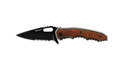 COAST DX375 3.5 Inch Stainless Steel Blade Double Locking Folding Knife with Aluminum and Wood Handle, side photo