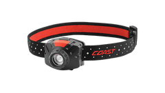 COAST FL60R 400 Lumen Rechargeable LED Headlamp with Reflective Safety Strap, front photo
