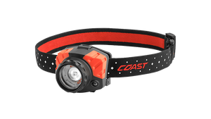 COAST FL85R 700 Lumen Dual Color LED Headlamp with Reflective Safety Strap, front photo