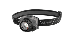 COAST FL88 615 Lumen Tri-Color Pure Beam Focusing LED Headlamp, Black & Gray Color, Angled Shot