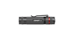 COAST G45 385 Lumen 4.6 Inch LED Flashlight, gunmetal color, side photo