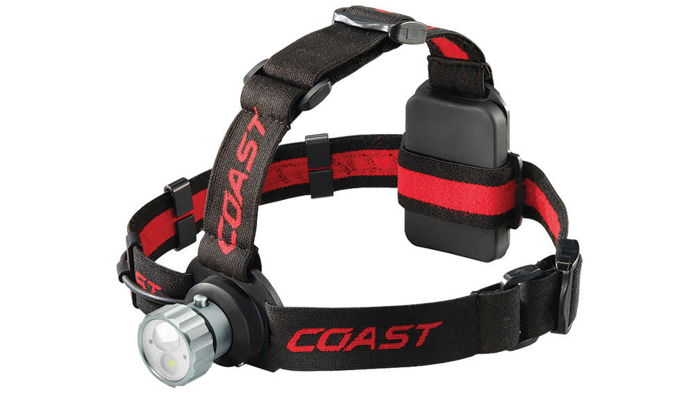 COAST HL45 400 Lumen Dual Color LED Headlamp, front photo