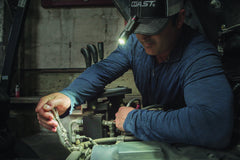 Auto Mechanic Uses Light to Illuminate Working Area, lifestyle photo