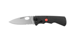 COAST LK375 3.75 Inch Stainless Steel Blade Folding Knife with Nylon Handle and LED Flashlight, side photo