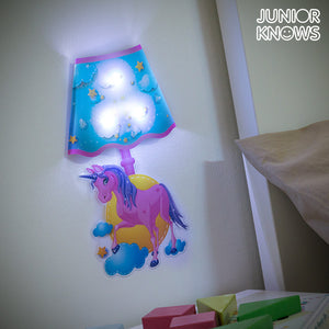 Autocolant de Perete LED Unicorn Junior Knows