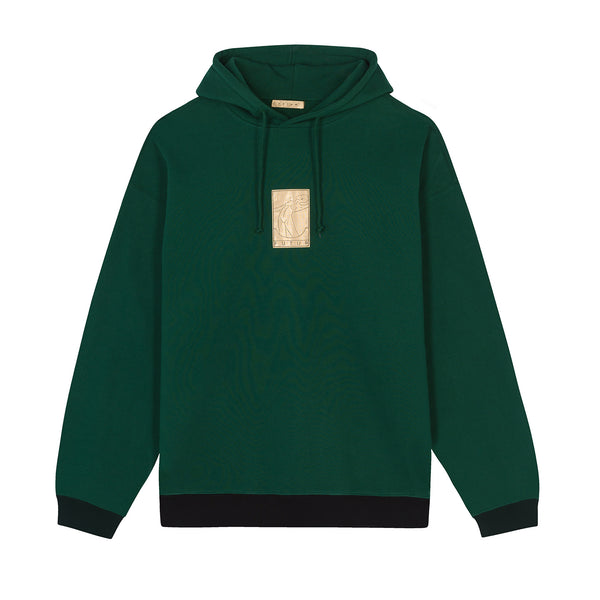 01 Gold G Fit Hoodie / Forest Green