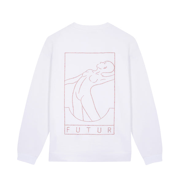 01 Outline G Fit Crew / White