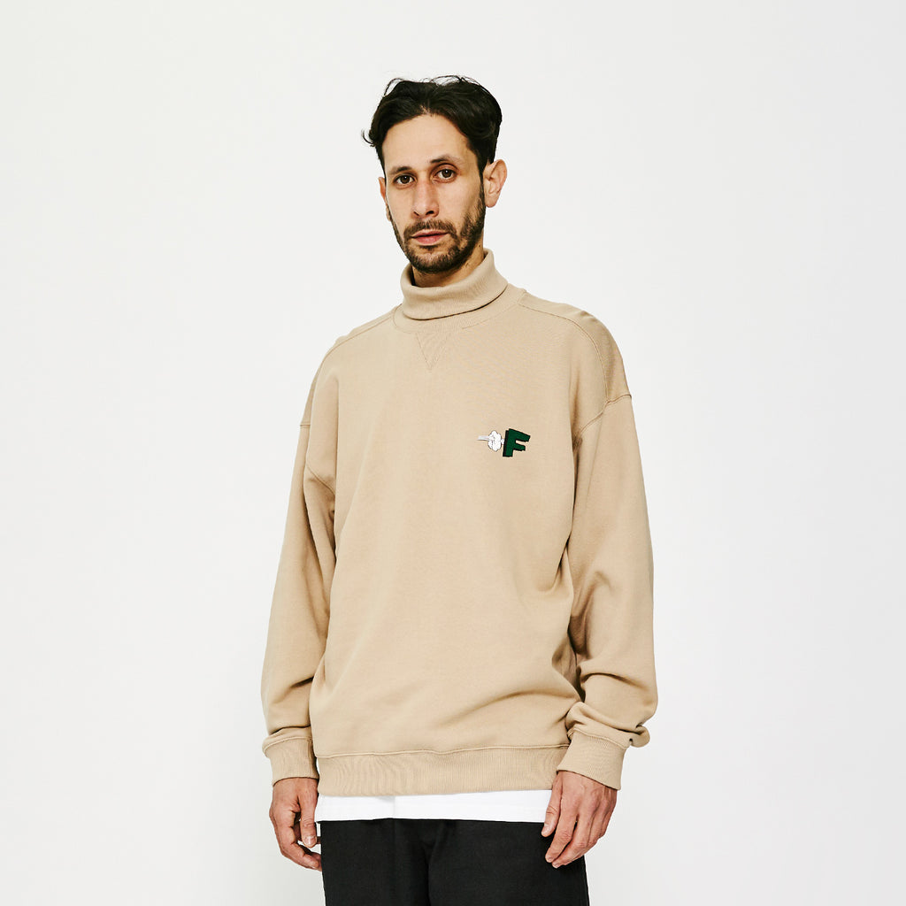 F Pow G Fit High Neck / Sand