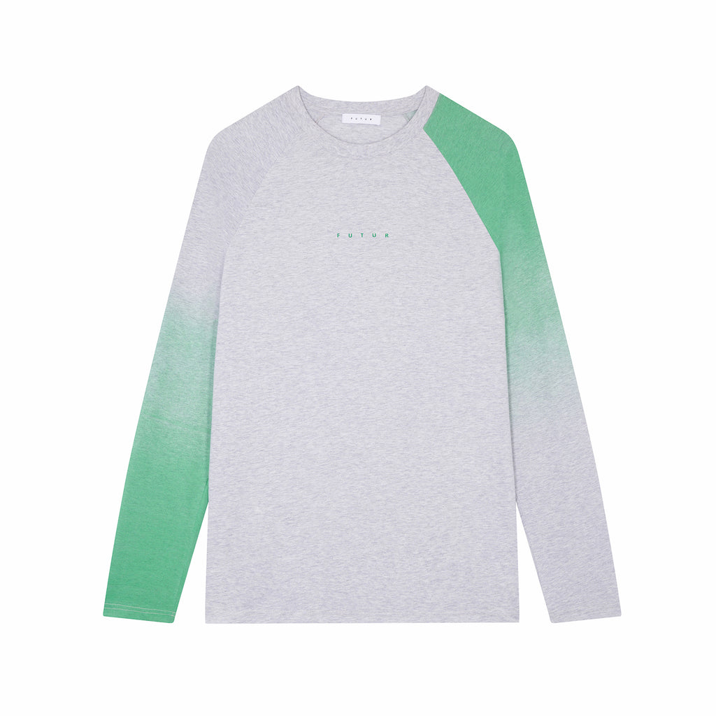 Faded Raglan L.S. / Heather Grey