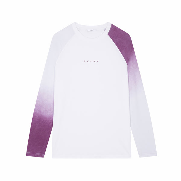 Faded Raglan LS / White