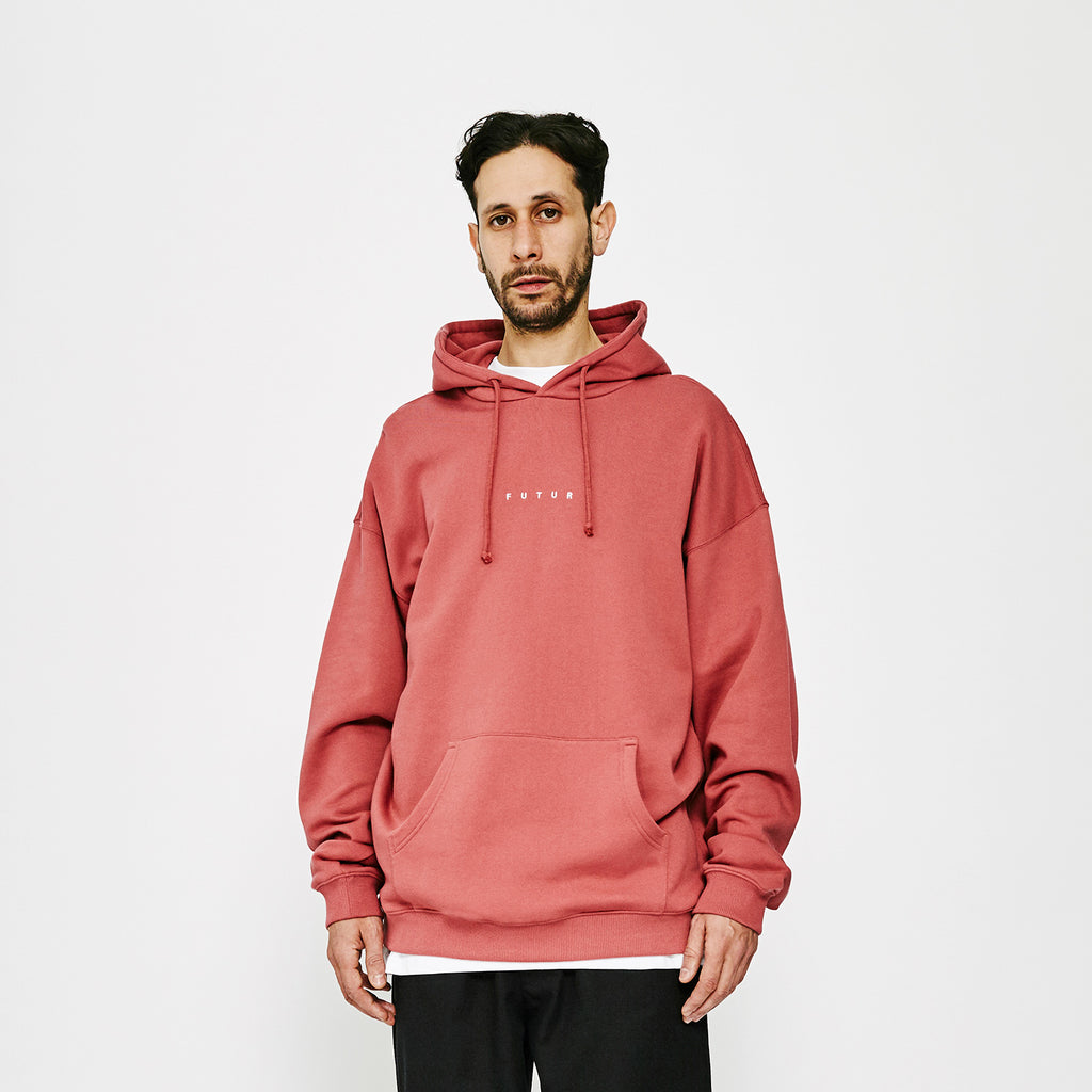 Logo G Fit Hoodie / Soft Red