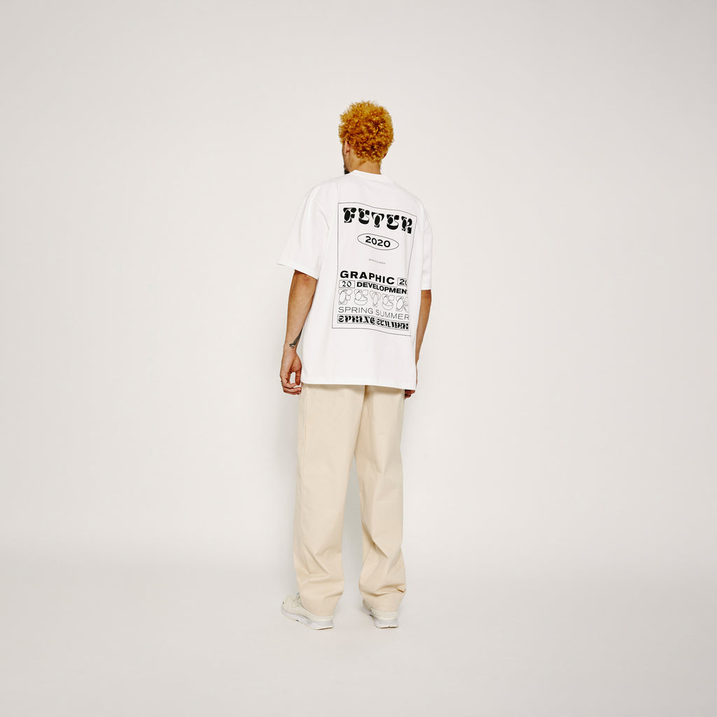 MW G Fit Dr Typo Tee / White