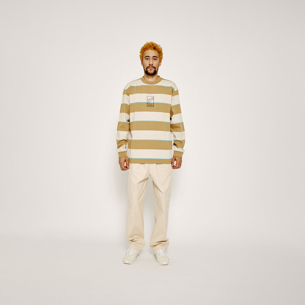 MW G Fit Striped L.S. / Sand