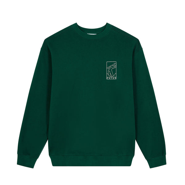 N01 G Fit Chest Crew / Forest Green
