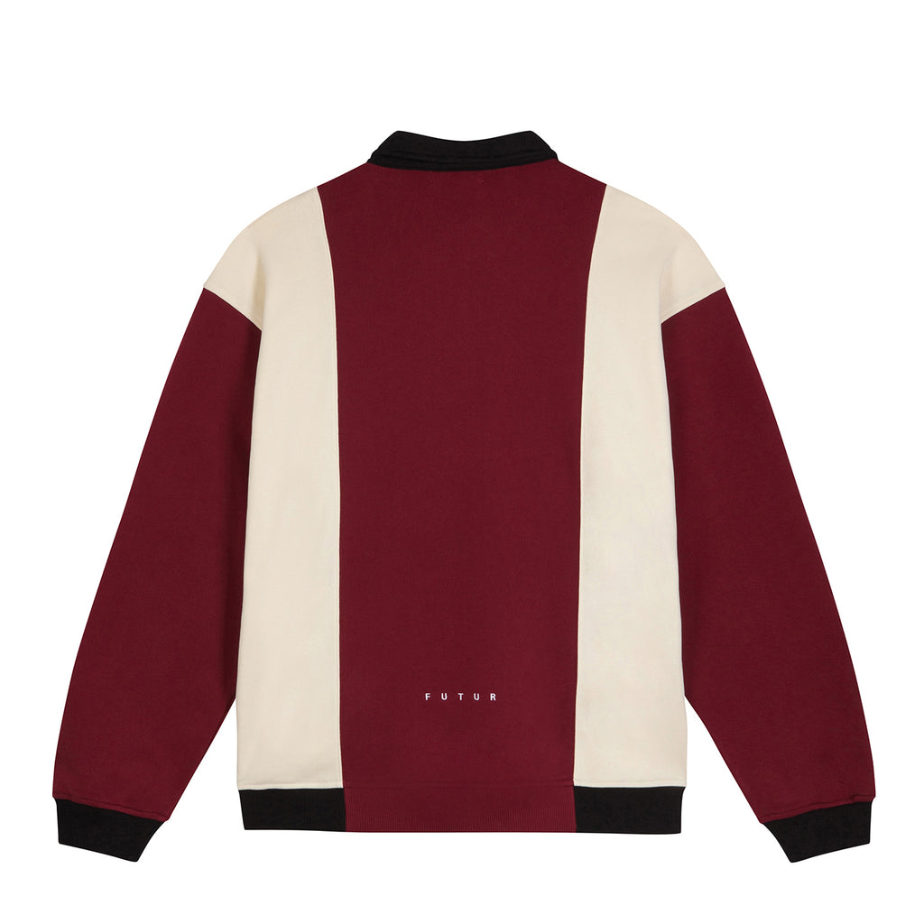 Polo Zip Top / Dark Red