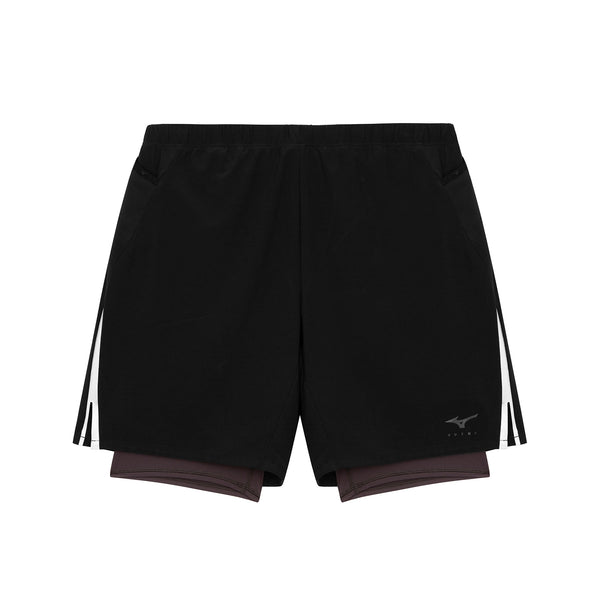 FUTUR X MIZUNO 7.5 2 IN 1 SHORT / Black