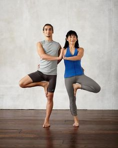 Double Tree Pose, Beginner Poses for Two