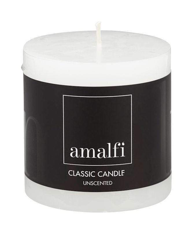 Amalfi Classic Unscented Pillar Candle 7.5x7.5cm