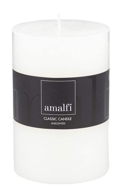 Amalfi Classic Unscented Wide Pillar Candle 10x15cm