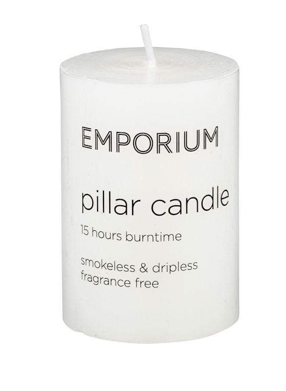 Emporium Pillar Candle 5x7.5cm White
