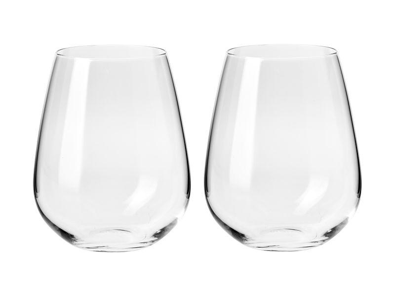 Krosno Duet Stemless Wine Glass 500ml Set of 2