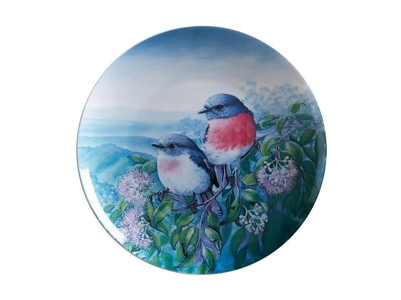 Maxwell Williams Birds of Australia KC 10yr Anniversary Plate 20cm Rose Robin
