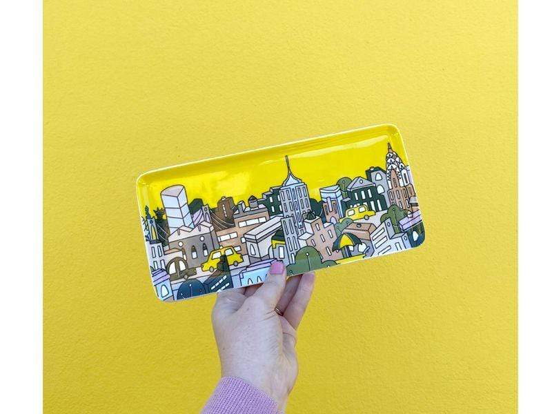 Maxwell Williams Megan McKean Cities Rectangle Plate 25x12cm New York