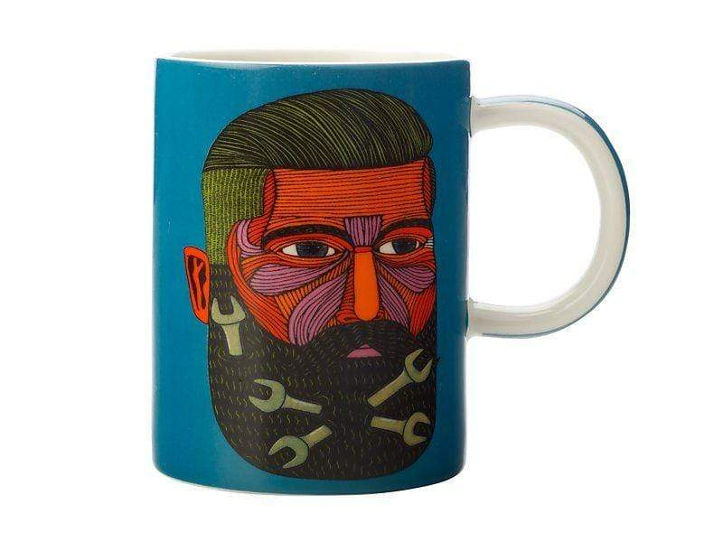 Maxwell Williams Mulga the Artist Mug 450ml Spanner Man