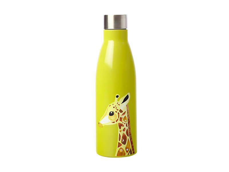 Maxwell Williams Pete Cromer Wildlife Double Wall Insulated Bottle 500ml Giraffe