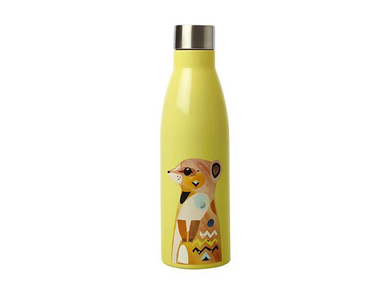 Maxwell Williams Pete Cromer Wildlife Double Wall Insulated Bottle 500ml Meerkat