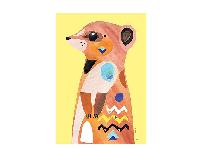 Maxwell Williams Pete Cromer Wildlife Tea Towel 50x70cm Meerkat
