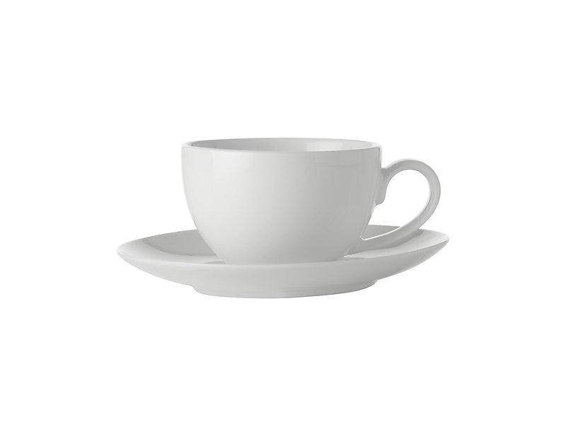 Maxwell Williams White Basics Coupe Demi Cup & Saucer 100ml