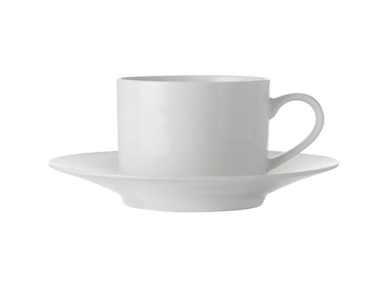 Maxwell Williams White Basics Straight Cup & Saucer 250ml