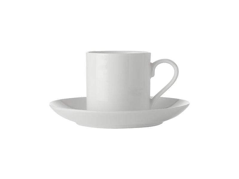 Maxwell Williams White Basics Straight Demi Cup & Saucer 100ml