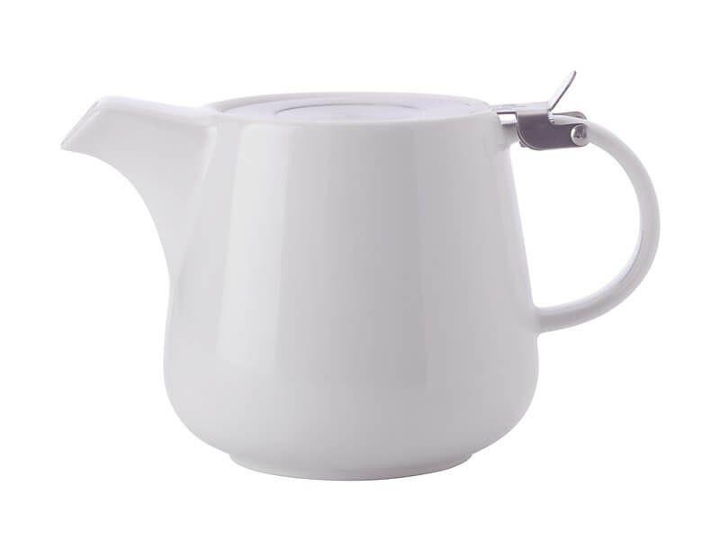 Maxwell Williams White Basics Teapot with Infuser 1.2L White