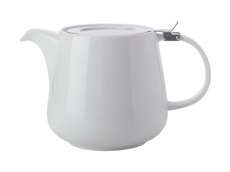 Maxwell Williams White Basics Teapot with Infuser 600ml White