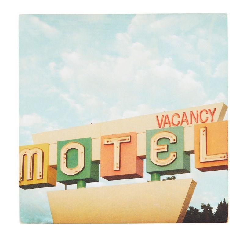 Retro Motel Coaster 10x10cm