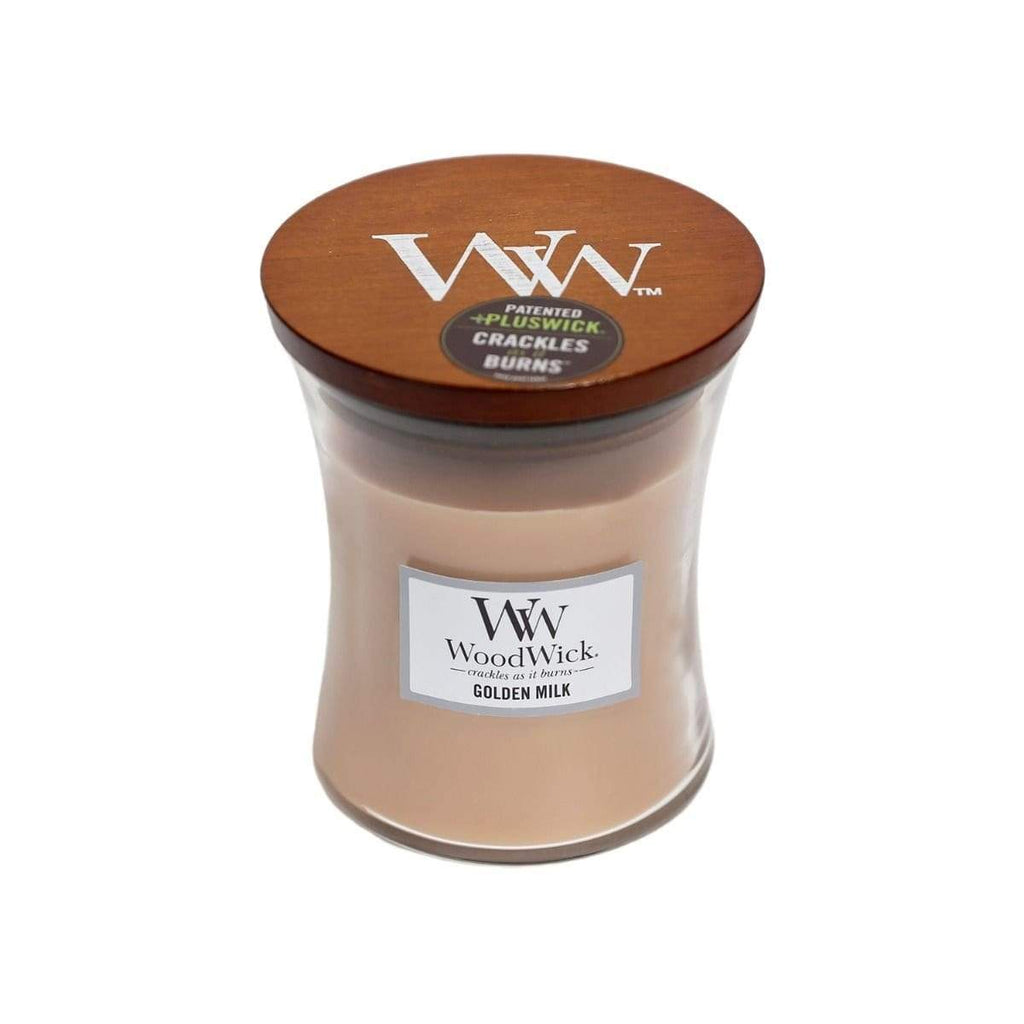 WoodWick Medium Golden Milk Soy Candle