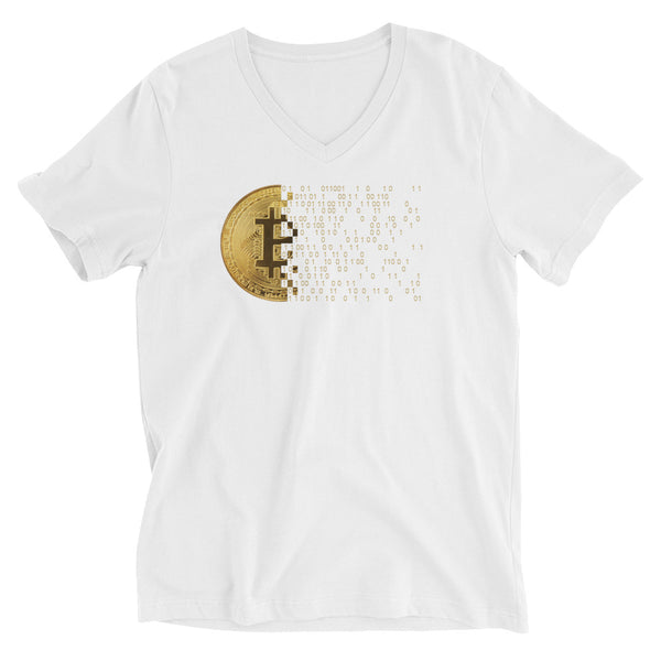 Bitcoin Code #2 Black Label Unisex Short Sleeve V-Neck T-Shirt