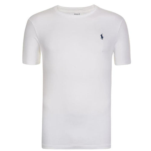 POLO RALPH LAUREN Classic logo T-shirt  White cotton embroidered  - Raw Apparel uk - l - Ralph Lauren Mens Clothing and apparel - New 2018 Fashion Trends and Styles,  Free Shipping, #uk, Mens clothing & apparel, T Shirts , Summer sale, #Streetfashion