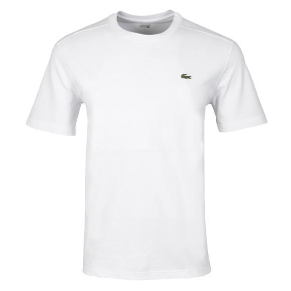 Lacoste - Mens Short Sleeve Crewneck T Shirt - White - Raw Apparel uk - l - Lacoste Mens Clothing and apparel - New 2018 Fashion Trends and Styles,  Free Shipping, #uk, Mens clothing & apparel, T Shirts , Summer sale, #Streetfashion