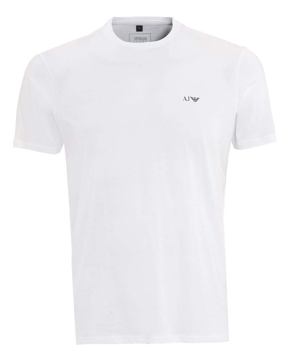 Armani Jeans - Mens Short Sleeve Crewneck T Shirt - White - Raw Apparel uk - l - Armani Jeans Mens Clothing and apparel - New 2018 Fashion Trends and Styles,  Free Shipping, #uk, Mens clothing & apparel, T Shirts , Summer sale, #Streetfashion