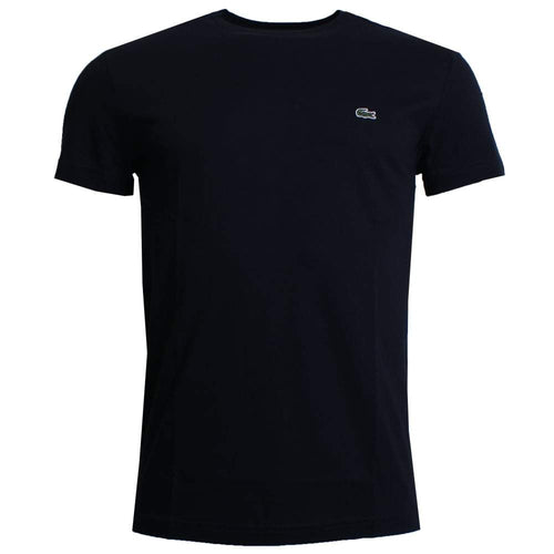 Lacoste - Mens Short Sleeve Crewneck T Shirt - Black - Raw Apparel uk - l - Lacoste Mens Clothing and apparel - New 2018 Fashion Trends and Styles,  Free Shipping, #uk, Mens clothing & apparel, T Shirts , Summer sale, #Streetfashion