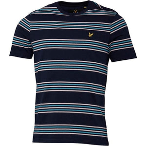 Lyle And Scott Vintage Mens Stripe T-Shirt Navy - Raw Apparel uk - l - Lyle & Scott Mens Clothing and apparel - New 2018 Fashion Trends and Styles,  Free Shipping, #uk, Mens clothing & apparel, T Shirts , Summer sale, #Streetfashion