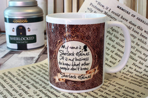 Sherlock Holmes Mug now available