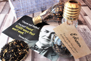 Thomas Edison Lightbulb Tea moment