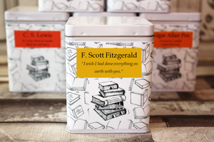 Literary Tea Square Author Tin