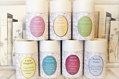 Authors Tea Tins with Quotes