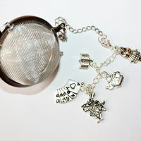 Mad Hatter teaball with charms