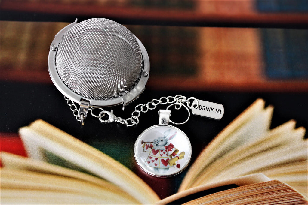 Alice In Wonderland Knave Inspired Tea Infuser With Glass Cabochon